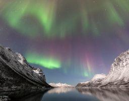 Polarlicht Nordlicht Himmel Wasser