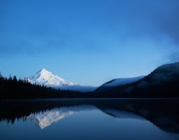 Mt. Hood Spiegelung See Berg Schnee