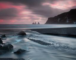 Sonnenuntergang Meer Strand Felsen Küste