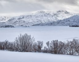 Winter Berg See