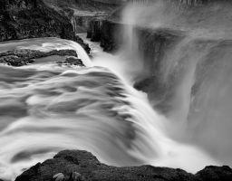 Wasserfall Fels Fluss Gischt