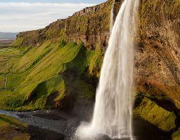 Wasserfall Fluss Fels Berg Gischt