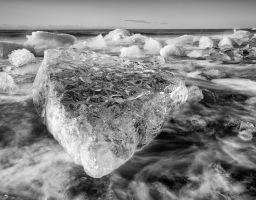 Eis Meer Strand Gletscher Küste Brandung