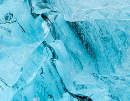 Eis Gletscher Höhle Vulkanasche