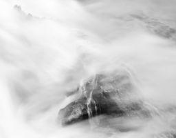 Wasserfall Gischt Fels Fluss