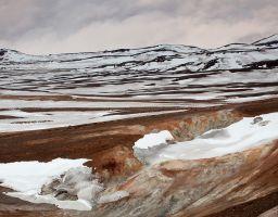 Berg Schnee Thermalgebiet