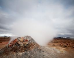 Vulkan Thermalgebiet Qualm Rauch Dampf Stein