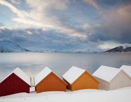 Haus Küste Winter Hütte