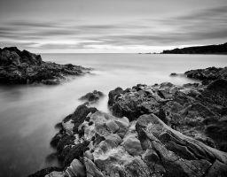 Meer Strand Bucht Fels Stein