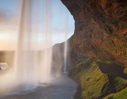 Wasserfall Felsen Gischt Klippe