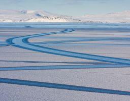 See Eis Berge Spuren