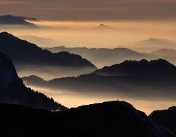 Berg Grat Alpen Sonnenaufgang Pilatus