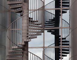 Wendeltreppe Aufgang Spiegelung