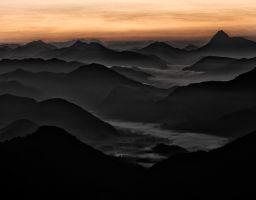 Berg Grat Sonnenaufgang