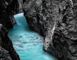 Wasser Fluss Bach Fels Schlucht Canyon