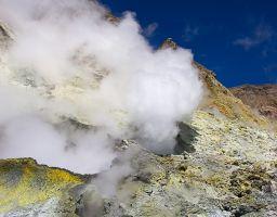 Rauch Vulkan Mineralien Schwefel