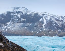 Gletscher Svínafellsjökull Eis
