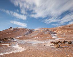 Hverir Thermalgebiet Farbe