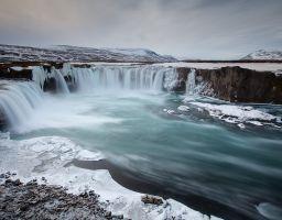 Fluss Goðafoss Wasserfall Island