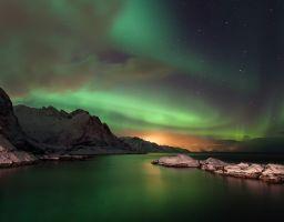 Polarlicht Meer Nordlicht